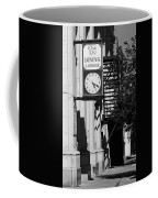 Miles City, Montana - Downtown Clock Bw Coffee Mug