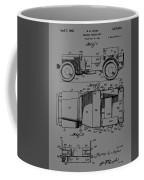 Military Vehicle Body Patent Drawing 1d Coffee Mug