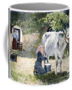 Milking, 19th Century Coffee Mug