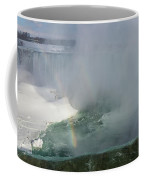 Milky Mist And Double Rainbows - Glorious Niagara Falls Coffee Mug