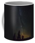 Milky Way Over Bay Of Gaspe Coffee Mug