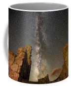 Milky Way Over Crest House Coffee Mug