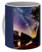 Milky Way Over The Saco River Maine  Coffee Mug