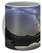 Milky Way Panorama At Cameron Lake Coffee Mug