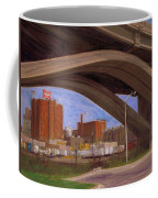 Miller Brewery Viewed Under Bridge Coffee Mug