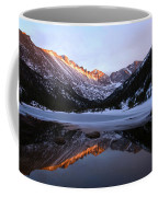 Spring Sunset At Mill's Lake In Rocky Mountain National Park, Colorado, Usa Coffee Mug