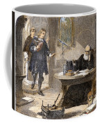 Milton And Galileo, 1638-39 Coffee Mug