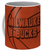 Milwaukee Bucks Leather Art Coffee Mug