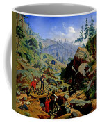 Miners In The Sierras Coffee Mug