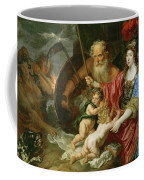 Minerva And Saturn Protecting Art And Science From Envy And Lies  Coffee Mug