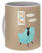 Mini Abstract With Blue Chair Coffee Mug