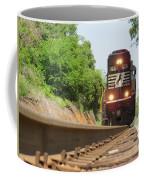 Mini Train Moves Down The Track Coffee Mug