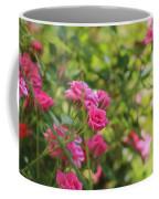 Miniature Fuchsia Roses Coffee Mug
