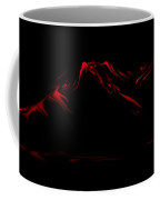 Minimal Landscape Red Coffee Mug
