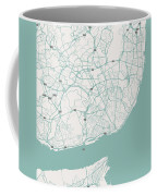 Minimalist Artistic Map Of Lisbon, Portugal 3 Coffee Mug