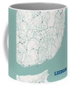 Minimalist Artistic Map Of Lisbon, Portugal 3a Coffee Mug