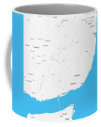 Minimalist Artistic Map Of Lisbon, Portugal 4a Coffee Mug