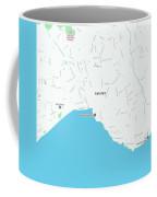 Minimalist Modern Map Of Antalya, Turkey 1 Coffee Mug