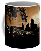 Minneapolis Skyline In Copper Coffee Mug