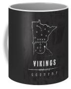Minnesota Vikings Art - Nfl Football Wall Print Coffee Mug