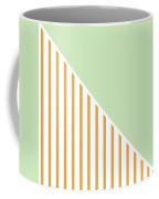 Mint And Gold Geometric Coffee Mug by Linda Woods