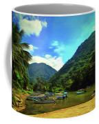 Mismaloya River Fishing Boats 0344 Coffee Mug