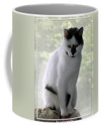 Miss Jerrie Cat With Watercolor Effect Coffee Mug