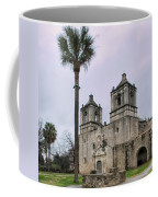 Mission Concepcion With Well And Tree Coffee Mug