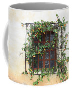 Mission Window With Yellow Flowers Coffee Mug
