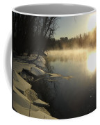Mississippi River Bank Sunrise Coffee Mug