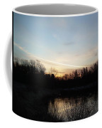 Mississippi River Colorful Dawn Clouds Coffee Mug