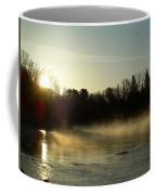 Mississippi River Dawn Light Rays Coffee Mug