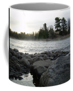 Mississippi River Dawn Over The Rocks Coffee Mug