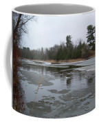 Mississippi River Ice Flow Coffee Mug