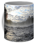 Mississippi River Mist Over Rushing Water Coffee Mug