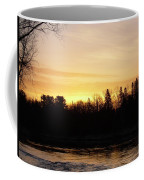 Mississippi River Orange Sky Coffee Mug