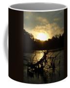 Mississippi River Sunrise Tree Roots Coffee Mug