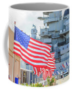 Missouri Battleship Memorial Flags Coffee Mug