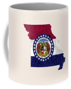 Missouri Map Art With Flag Design Coffee Mug