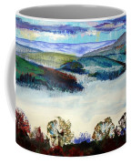 Mist In The Exe Valley In Exeter Devon Coffee Mug
