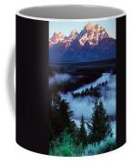 Mist Over Snake River, Sunrise Light Coffee Mug