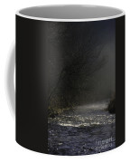 Mist Rising From The River Dove On A Winter's Day Dovedale Peak District Derbyshire England Coffee Mug