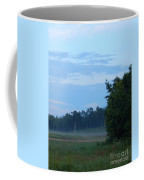Mist Rolls In And Blue Sky At Sunset Coffee Mug