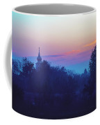 Misty And Vibrant Winter Dawn Over Serbian Countryside Coffee Mug