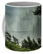 Misty Bridge At Heceta Head Coffee Mug