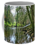Misty Day On River Teign - P4a16017 Coffee Mug