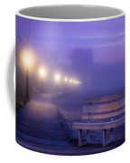 Misty Morning Boardwalk Coffee Mug