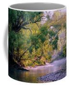 Misty Morning On Nariel Creek Coffee Mug
