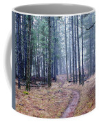 Misty Morning Trail In The Woods Coffee Mug