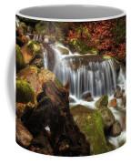Misty Morning Waterfall Coffee Mug